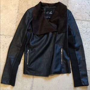 C.Luee Faux Leather Jacket
